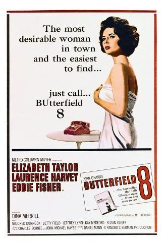 BUtterfield 8 - Movie Poster Reproduction--Stretched Canvas Print
