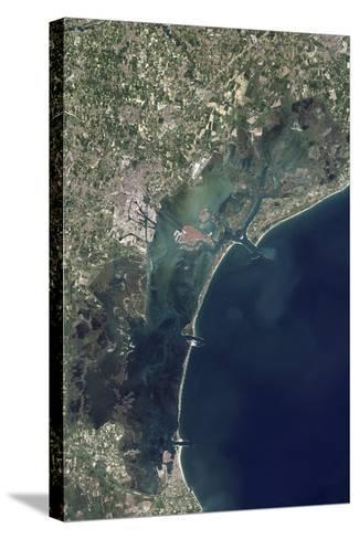 Satellite View of Venice and the Venetian Lagoon--Stretched Canvas Print