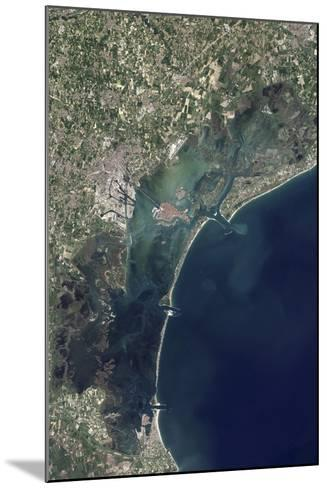 Satellite View of Venice and the Venetian Lagoon--Mounted Photographic Print