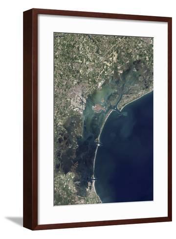 Satellite View of Venice and the Venetian Lagoon--Framed Art Print