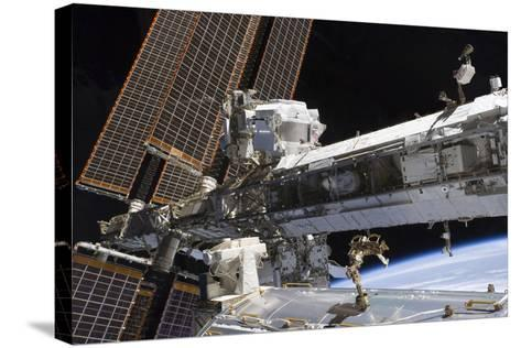 The Starboard Truss of the International Space Station--Stretched Canvas Print