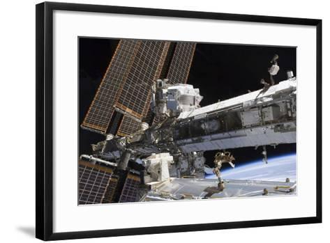 The Starboard Truss of the International Space Station--Framed Art Print
