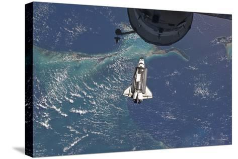 Space Shuttle Atlantis over the Bahamas--Stretched Canvas Print
