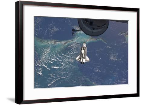 Space Shuttle Atlantis over the Bahamas--Framed Art Print
