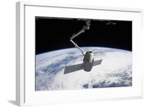 Spacex Dragon in the Grasp of Canadarm2--Framed Art Print