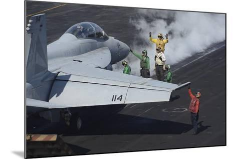 Sailors Prepare an F-A-18F Super Hornet for Launch--Mounted Photographic Print
