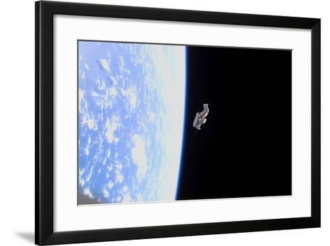 Suitsat in Orbit around Planet Earth--Framed Art Print