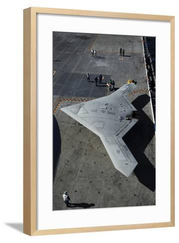 The Experimental X-47B Unmanned Combat Air System Demonstrator--Framed Art Print