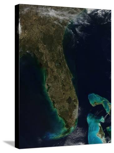 Satellite View of Florida--Stretched Canvas Print