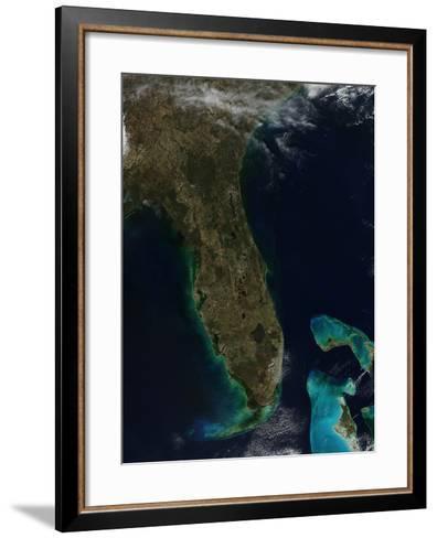 Satellite View of Florida--Framed Art Print