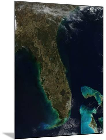 Satellite View of Florida--Mounted Photographic Print
