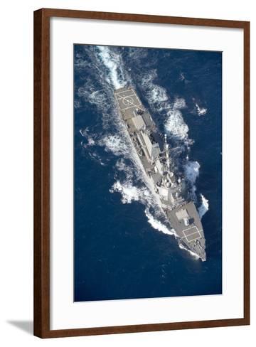 Uss Stout Transits the Mediterranean Sea--Framed Art Print