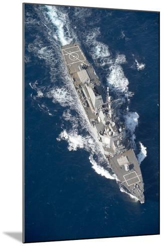 Uss Stout Transits the Mediterranean Sea--Mounted Photographic Print