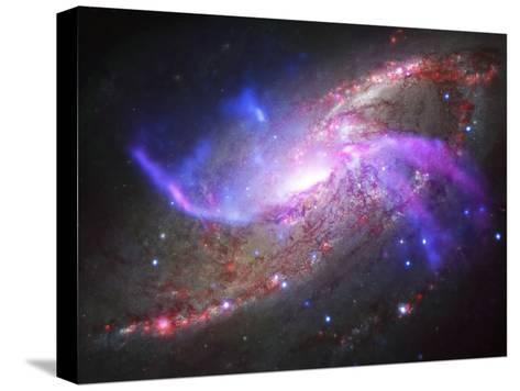 A Galactic Light Show in Spiral Galaxy Ngc 4258--Stretched Canvas Print