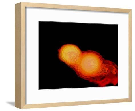 A Pair of Neutron Stars Colliding, Merging, and Forming a Black Hole--Framed Art Print