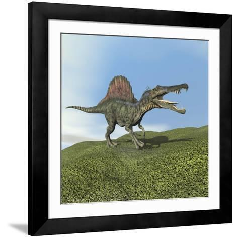 Spinosaurus Dinosaur--Framed Art Print