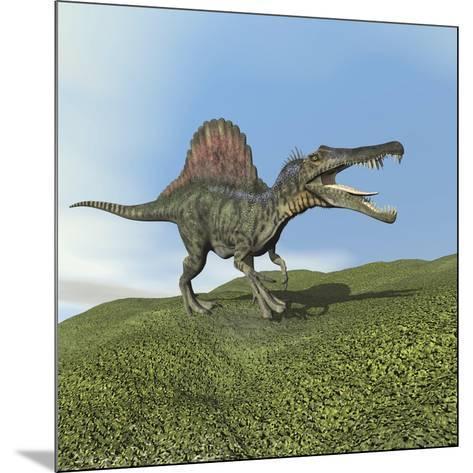 Spinosaurus Dinosaur--Mounted Art Print