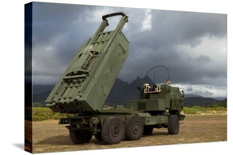 A M142 High Mobility Artillery Rocket System--Stretched Canvas Print