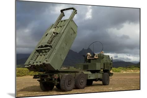 A M142 High Mobility Artillery Rocket System--Mounted Photographic Print