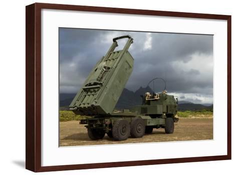 A M142 High Mobility Artillery Rocket System--Framed Art Print