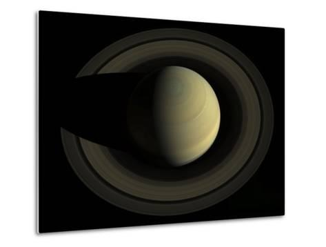 Natural Color Mosaic of Planet Saturn and its Main Rings--Metal Print