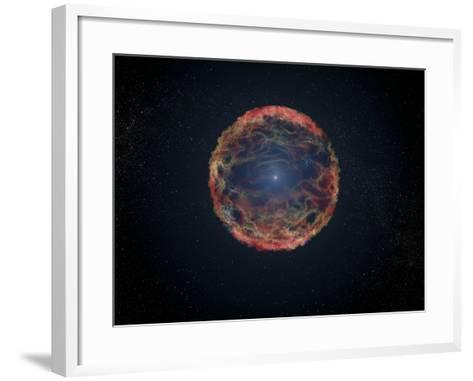 An Artist's Impression of Supernova 1993J--Framed Art Print