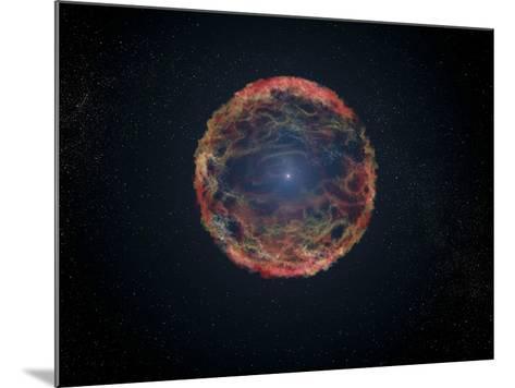 An Artist's Impression of Supernova 1993J--Mounted Art Print