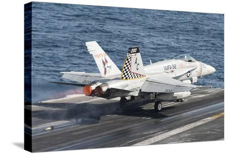 An F-A-18C Hornet Launches from USS Harry S. Truman--Stretched Canvas Print
