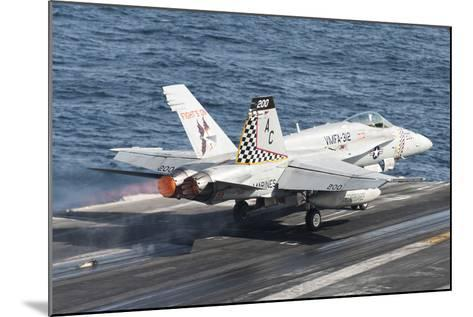 An F-A-18C Hornet Launches from USS Harry S. Truman--Mounted Photographic Print