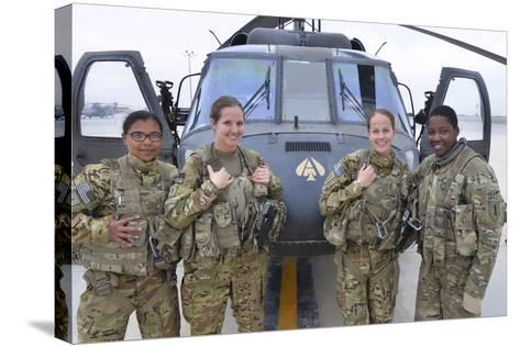 A U.S. Army All Female Crew--Stretched Canvas Print