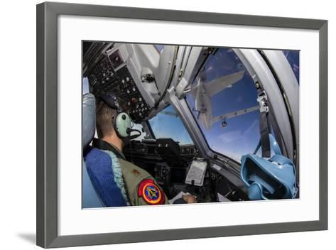A C-17 Globemaster Iii Approaches a Kc-10 Extender--Framed Art Print