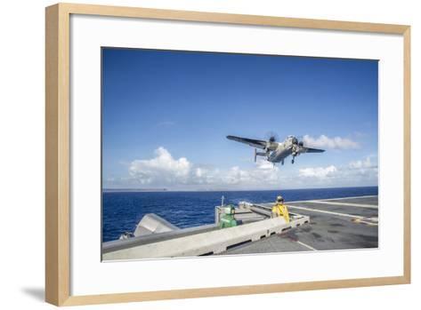 A C-2A Greyhound Carrying Relief Supplies--Framed Art Print