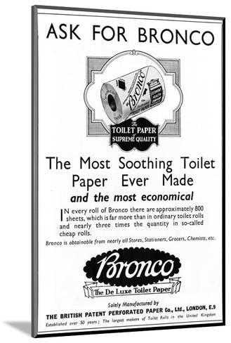 Bronco, Toilet, Paper, Advertisement--Mounted Giclee Print