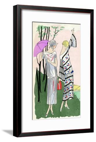 Two Ladies in Outfits by Doucet and Martial Et Armand--Framed Art Print