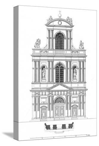 Paris, France - Eglise de Saint Gervais Et Saint Protais--Stretched Canvas Print