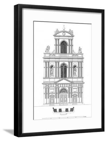 Paris, France - Eglise de Saint Gervais Et Saint Protais--Framed Art Print