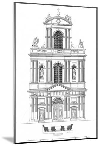 Paris, France - Eglise de Saint Gervais Et Saint Protais--Mounted Giclee Print