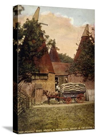 Oast Houses 1908--Stretched Canvas Print