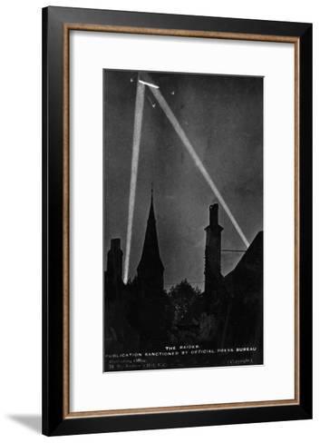 Zeppelin Downed 1916--Framed Art Print