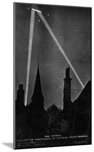 Zeppelin Downed 1916--Mounted Giclee Print