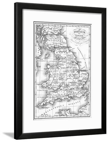 Roman Britain Map--Framed Art Print