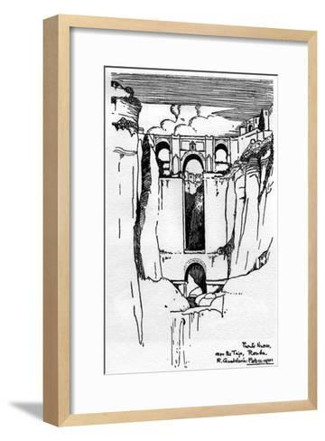 The Puente Nuevo, Ronda, Southern Spain--Framed Art Print