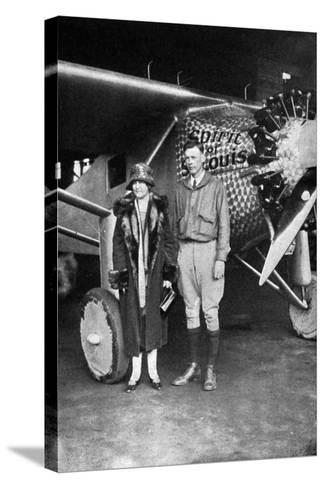 Lindbergh, Louis and Mum--Stretched Canvas Print