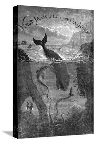 20,000 Leagues under the Sea, Jules Verne - Title Page--Stretched Canvas Print