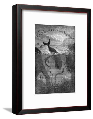 20,000 Leagues under the Sea, Jules Verne - Title Page--Framed Art Print