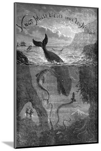 20,000 Leagues under the Sea, Jules Verne - Title Page--Mounted Giclee Print