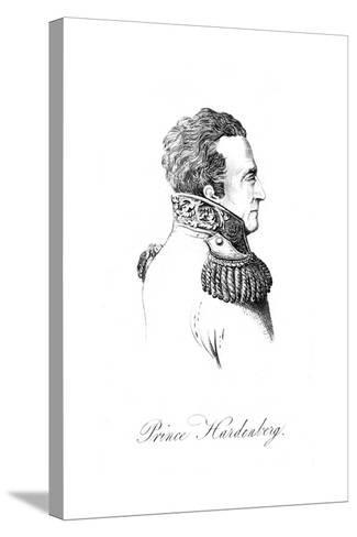 Karl Von Hardenberg--Stretched Canvas Print