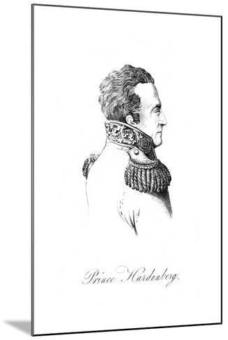 Karl Von Hardenberg--Mounted Giclee Print
