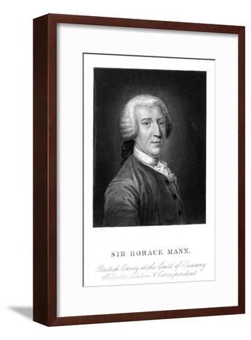 Sir Horace Mann--Framed Art Print
