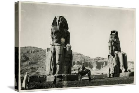 Colossi of Memnon, Thebes, Egypt--Stretched Canvas Print